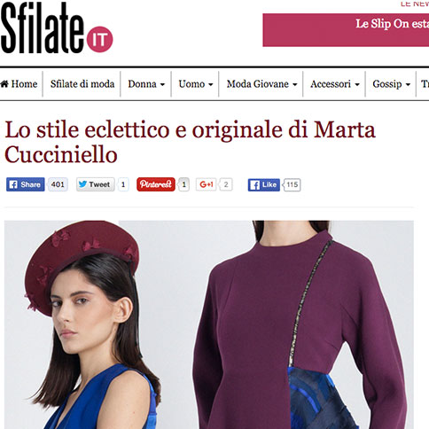 MARTA CUCCINIELLO ON SFILATE.IT