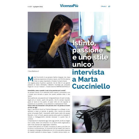 Interview on Vicenza Più