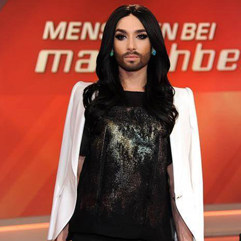 Conchita Wurst wearing MARTA CUCCINIELLO